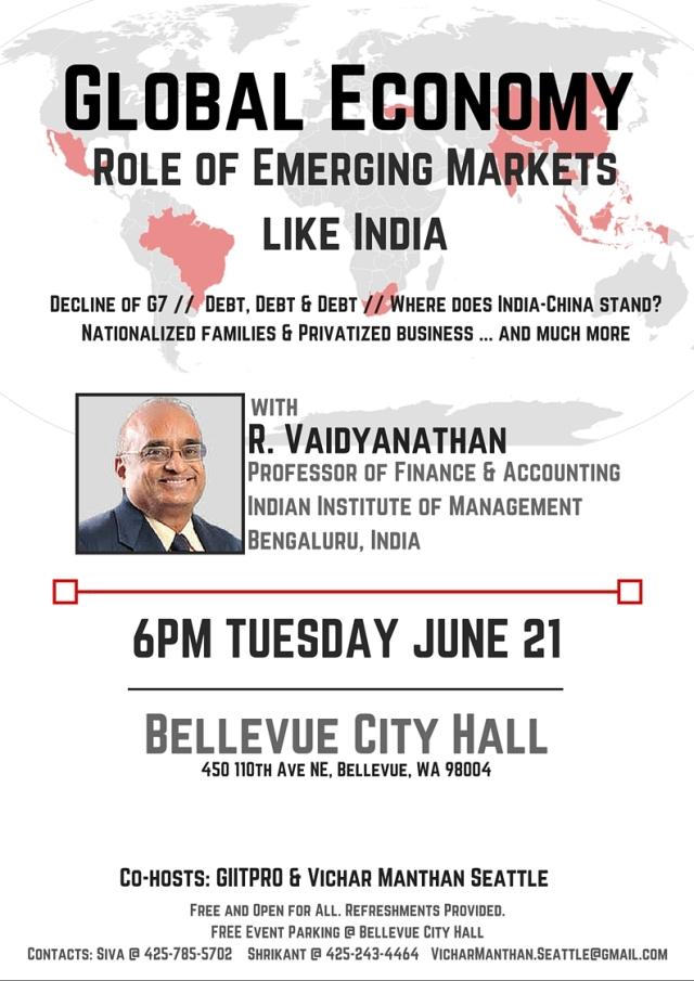 Prof Vaidyanathan - Event Flyer